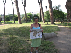 Woring out Palatine Hill