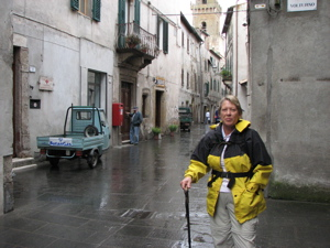 A wet start in Pitigliano